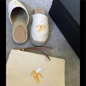 Banana Republic Canvas espadrilles and clutch